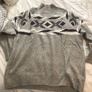 Calvin Klein mock turtle neck sweater. Size L.